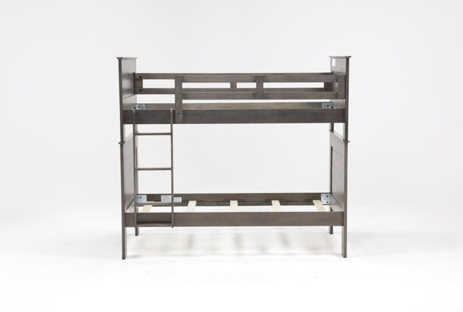 Owen Grey Twin Over Twin Bunk Bed - 360