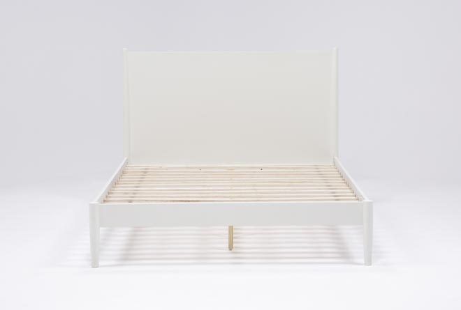 Alton White Queen Platform Bed - 360