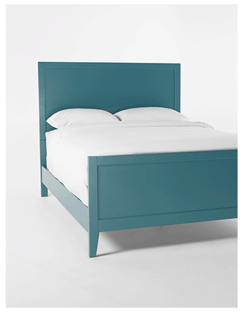 Bayside Blue Queen Panel Bed